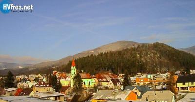 Náhledový obrázek webkamery Dolní Bečva - z hotelu Ragedast