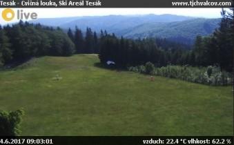 Náhledový obrázek webkamery Chvalčov - Skiareál Tesák