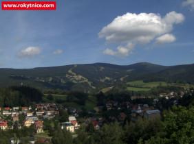 Náhledový obrázek webkamery Rokytnice nad Jizerou - panorama