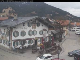 Náhledový obrázek webkamery Oberammergau - Hotel Alte Post