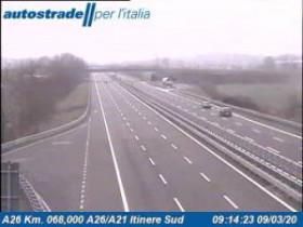 Náhledový obrázek webkamery Alessandria - Traffic A26 - KM 68,0