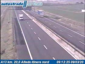 Náhledový obrázek webkamery Altedo - Traffic A13 - KM 20,0