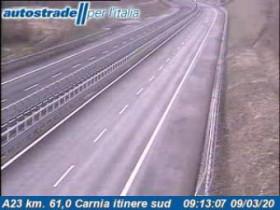 Náhledový obrázek webkamery Amaro - Traffic A23 - KM 61,0