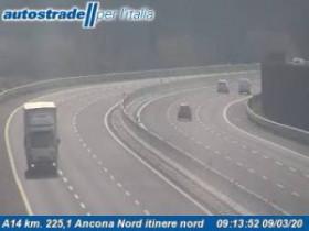 Náhledový obrázek webkamery Ancona - Traffic A14 - KM 224,6