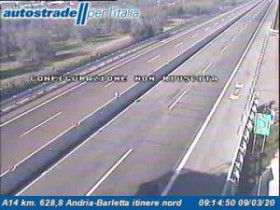 Náhledový obrázek webkamery Andria - Traffic A14 - KM 628,8