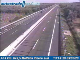 Náhledový obrázek webkamery Bisceglie - A14 - KM 642,5