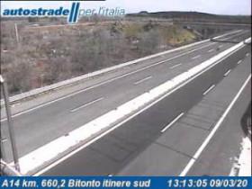 Náhledový obrázek webkamery Bitonto - A14 - KM 660,2