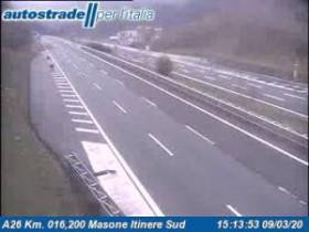 Náhledový obrázek webkamery  Campo Ligure - A26 - KM 16,2