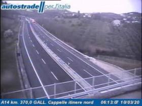 Náhledový obrázek webkamery Cappelle Sul Tavo - A14 - KM 370,0