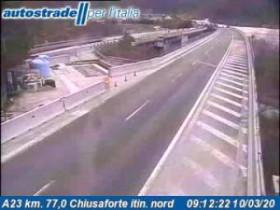Náhledový obrázek webkamery Chiusaforte - A23 - KM 77,0