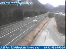 Náhledový obrázek webkamery Chiusaforte - A23 - KM 72,6