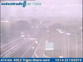 Náhledový obrázek webkamery Marina di Montenero - A14 - KM 458,0