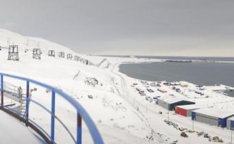 Náhledový obrázek webkamery Longyearbyen - Špicberky-panorama