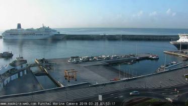 Náhledový obrázek webkamery Funchal - kotviště