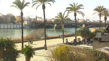Náhledový obrázek webkamery Sevilla - Puente de Triana