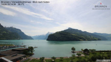 Náhledový obrázek webkamery Brunnen - Lucernské jezero