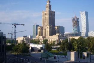 Náhledový obrázek webkamery Varšava - palác kultury a vědy