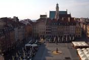 Náhledový obrázek webkamery Varšava - Staroměstské náměstí
