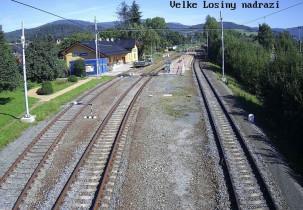 Náhledový obrázek webkamery Velké losiny - nádraží