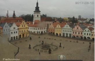 Náhledový obrázek webkamery Pelhřimov - Masarykovo náměstí
