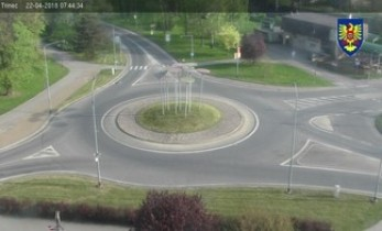 Náhledový obrázek webkamery Třínec - kruhový objezd - náměstí  T.G.G.