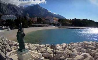 Náhledový obrázek webkamery Baška Voda - pláž Nikola