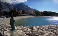 Náhledový obrázek webkamery Baška Voda - Sv. Nikola a pláž
