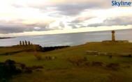 Náhledový obrázek webkamery Pláž Hanga Roa - Moai Statues