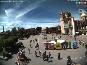 Náhledový obrázek webkamery Tequisquiapan - Plaza Principal
