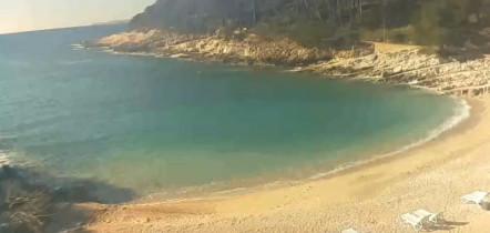 Náhledový obrázek webkamery Mali Lošinj - Pláž Suncana Uvala - Veli Žal