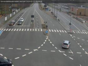 Náhledový obrázek webkamery Aalborg - Universitetsboulevarden